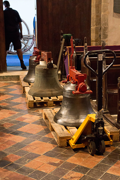 The first three bells arrive